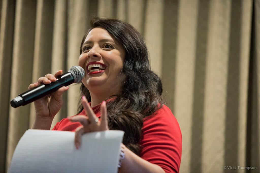Michelle Vilchez speaking at Bay Area Parent Leadership Institute