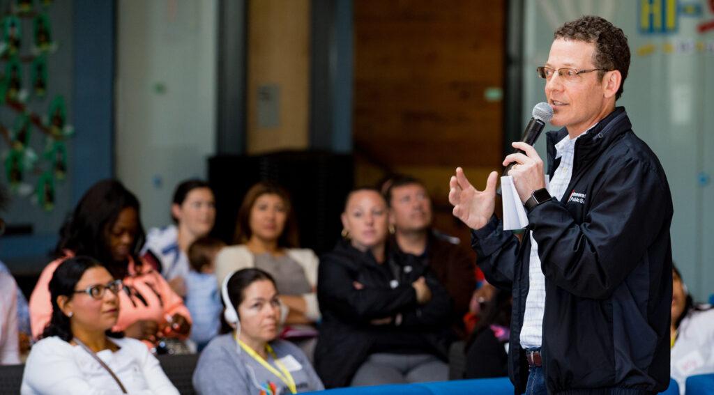 Matt Hammer presenting at SF Parent Power Day